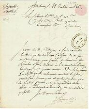 Général DEDON-DUCLOS autographe 1804 / GRAINS de LUMIERE