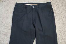     Mens Jeans size 33 x 30 Tommy Bahama black pants stretch male khakis