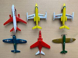 Job Lot Of 6 Matchbox (Lesley) 1973 Die cast Aeroplanes
