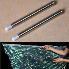 2PCS Portable ISIS Wings Butterfly Stainless Steel Telescopic Sticks Belly Dance