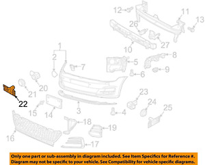 VW VOLKSWAGEN OEM 2018 GTI Front Bumper-Park Sensor Bracket Right 5G0919494G