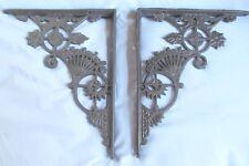 Victorian style Cast Iron Shelf Brackets 11 by 9 inch