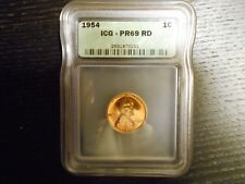 1954 PR69 RD Lincoln Cent PROOF Penny 1c - by ICG (High Price Guide $)