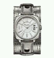 NEW Genuine Thomas Sabo CZ Set Watch on Silver Leather Cuff Strap WA0086 £339