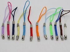 50 Mixed Color Braided Strap Lariat Lanyard Cords Mobile Cell Phone Dangle