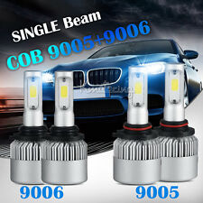 4pcs 9005+ 9006 Total 400W COB Single Beam LED Headlights Bulbs Car Lamps HID