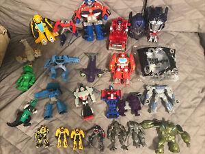 Mix Lot 25 PCS McDonalds BK Toys Transformers