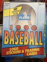 1990 FLEER BASEBALL UNOPENED WAX BOX *36 SEALED PACKS GRIFFEY JR. - LARRY WALKER