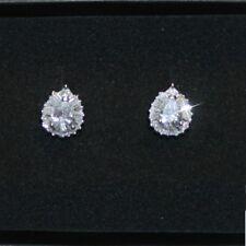 4ctw Pear Baguette Diamond Alternatives Stud Earrings 14k White Gold over 925 SS