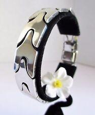 "Vintage 0.925 Sterling Silver Bracelet 8"" 20cm L   (61g) 0.5"" w Taxco Silver"