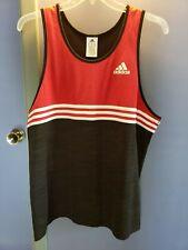 Adidas Red Black Mens Shirt Xl Sleeveless Muscle Tank