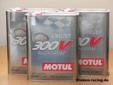13,95€/l Motul 300V High RPM 0W-20 3 x 2 Ltr racing oil for sprint / qualifying