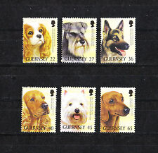 GUERNESEY  timbre   club  canin   chiens   2001  num:   894 a 899   **