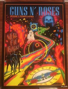 GUNS N ROSES HERSHEY PARK STADIUM PA WE'RE BACK EVENT POSTER 7/31/21 ONLY 250