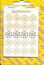 WARGAMES FOUNDRY ANCIENTS. MACEDONIAN  SHIELD TRANSFERS MAC5