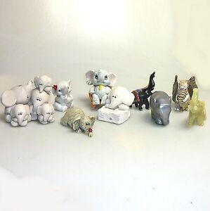 Sammlungsauflösung 9 x Elefant  Glückselefant Zirkuselefant diverse Materialien