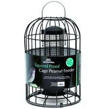 Tom Chambers Squirrel Proof Bird Hanging Cage Peanut Feeder, Black Strong Steel