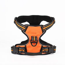 Adjustable Nylon Reflective Dog Leash Harness Lead Collar Safety Pet Puppy Vest