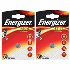 2 x Energizer 1220 3V Lithium Battery Coin Cell CR1220 DL1220 BR1220