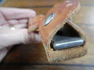 Vintage Schrade Old Timer HS-1 Honesteel Knife Sharpening Steel With Sheath