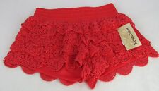 Rewind Kohl's Womens Shorts Size Small Coral Stretch Crochet Lace Elastic Waist