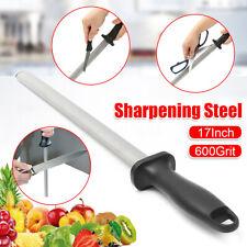 17'' 600# Grit Diamond Kitchen Knife Sharpener Sharpening Steel Rod Stone