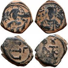 Lot Of 2 Byzantine Coins Ae , Tetarteron & Pentannumium