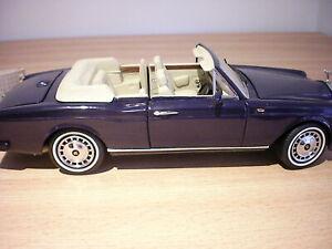 FRANKIN /DANBURY MINT MODEL CAR 1:24 SCALE 1993 ROLLS ROYCE CORNICHE UNBOXED