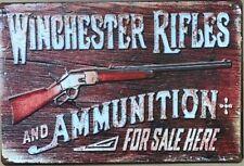 WINCHESTER Rustic Look Vintage Tin Metal Sign Man Cave, Shed-Garage & Bar Sign