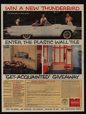 1957 MONSANTO Sweepstakes - Win A FORD THUNDERBIRD Convertible Car - VINTAGE AD