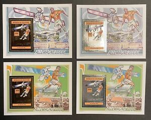 Stamps Deluxe Bloc Gold&Silver FootballWorldcup Germany 2006 Ivory Coast perf.