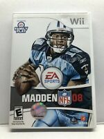 Madden NFL 08 EA Sports Football Nintendo Wii - Complete - Clean & Tested