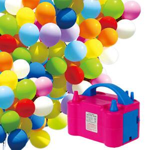 Luftballonpumpe Ballonpumpe Aufblasgerät Elektrische Luftballon Pumpe rosa 600W