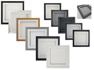 3D Box SQUARE Picture Photo Craft Hobby Art Music Medal Gift CD Display Frame