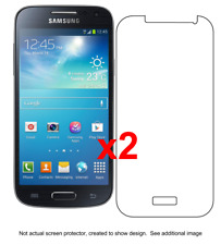2x Samsung Galaxy S4 Mini Anti-Scratch Screen Protector I9190 w/ cloth