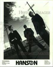 Press Photo Pop Rock band Hanson - lrp16274