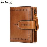 Women Genuine Leather Wallet Bifold Credit Card ID Holder Zipper Retro Purse Hot