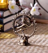 Mini Natraj Brass Statue God of Dance Brass Idol SHIVA Hindu Figurine Cute Murti