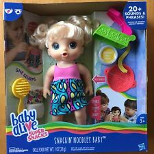 Baby Alive Super Snacks Snackin' Noodles Baby Doll Toy Girl Blonde New In Box
