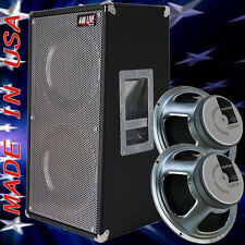 2x12 Vertical Guitar Spkr Cab Bronco Black tolex W/Celestion G12K100 Speakers