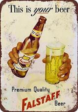 "Falstaff beer Vintage Retro Metal Sign 8"" x 12"""
