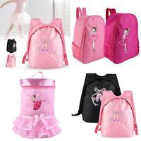 Girl Ballet Tutu Dress Embroidered Dance Zip Bag Backpack Tote Outdoor Knapsack