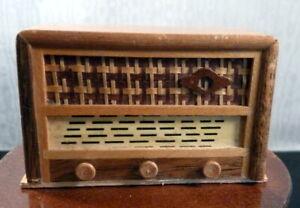 Vintage 1950s BODO HENNIG RADIO 1:12 Dollhouse Miniature