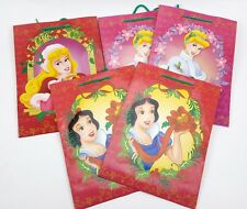 "5 LOT CHRISTMAS DISNEY PRINCESS GIFT BAG 9"" X 13"" X 5"" SNOW WHITE CINDERELLA"
