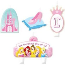 Princess 1st Birthday Candle Set 4 pcs Cake Toppers Decorations Party Supplies