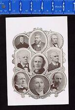 Leading Preachers & Sunday School Leaders - 1894 Portrait Montage Print