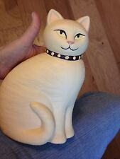 NEW CROWNING TOUCH VINTAGE TAN LARGE PERSIAN CERAMIC CAT WITH FREE SHIPPING
