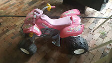 Pink Girls Kawasaki 12v Electric Ride Toy ATV 4 Wheeler Quad Toddler Bike Barbie