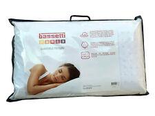 Bassetti Guanciale Memory Fodera in Jersey di Puro Cotone Cuscino Made in Italy