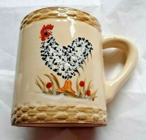 1 Rooster Coffee Mug/Cup 1999 Enesco farmhouse kitchen  Isabelle De Borchgrave